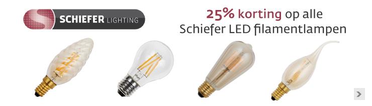 Schiefer filamentlampen