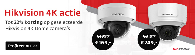 Hikvision 4K actie