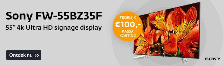 """Sony 55"""" display met €100,- korting"""