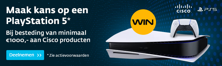 Bestel Cisco, win een PlayStation!