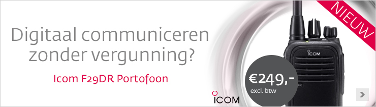 Icom IC-F29DR vergunningsvrije portofoon