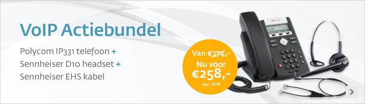 Polycom en Sennheiser Telefoniebundel