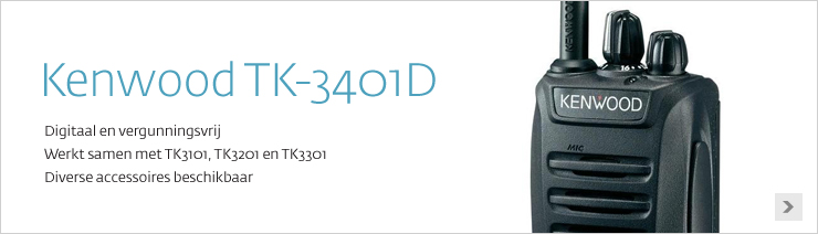Kenwood TK-3401D digitale vergunningsvrije portofoon