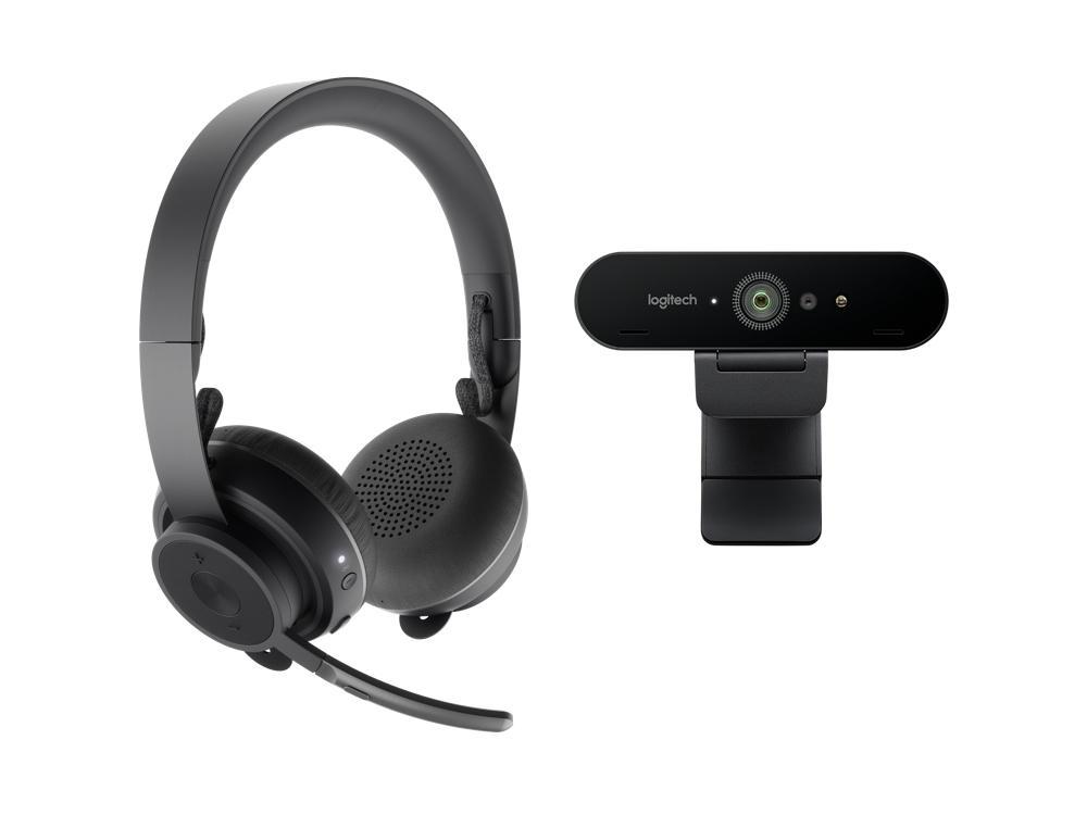 Logitech Pro Personal Video Collaboration kit met Zone Wireless en Brio