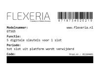 Flexeria Code 5 extra sleutels image