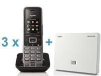 3 x Gigaset S650H handset + Gratis N510 basisstation