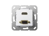 Gira Inputpaneel VK, 1x HDMI, 1x VGA image