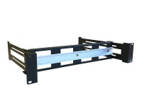 WP Rack 19 inch DIN Rail 2HE