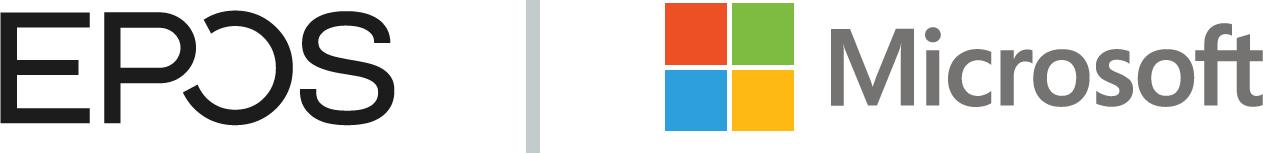 EPOS logo en Microsoft logo
