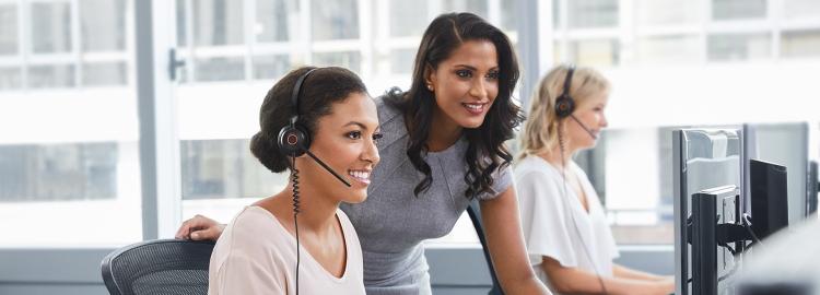 Headsets voor inwerken en trainen