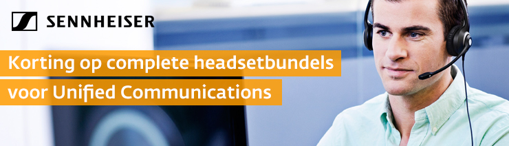 Sennheiser headsetbundels met korting t/m 30 juni 2017
