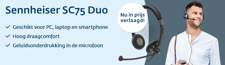 Sennheiser SC75 duo headsets in prijs verlaagd