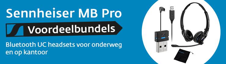Sennheiser MB Pro Bluetooth UC headsets voordeelbundels