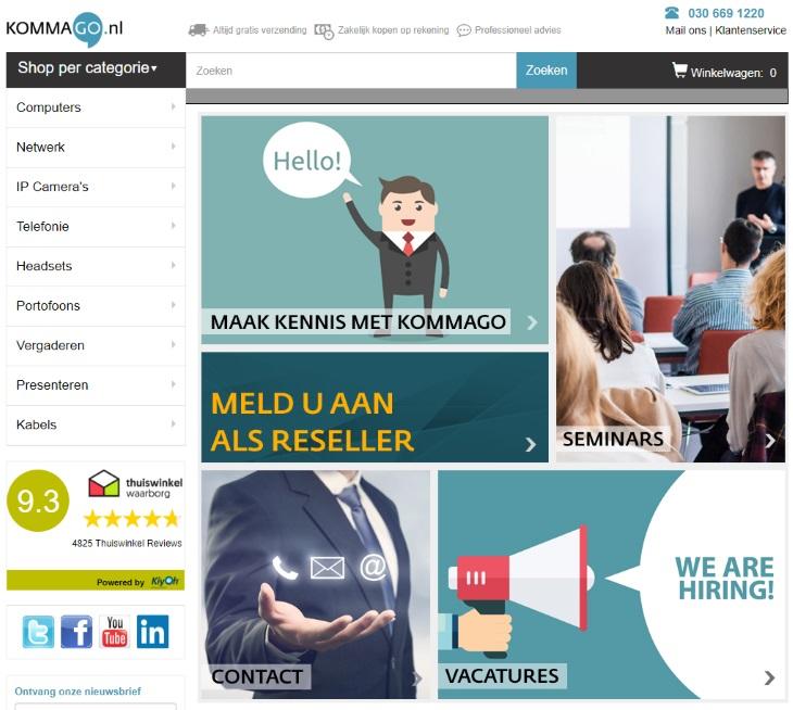 Vanaf nu kunt u ook via KommaGo.nl bestellen