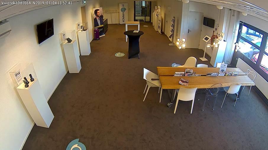 Beveiligingsbeelden van een moderne IP-camera