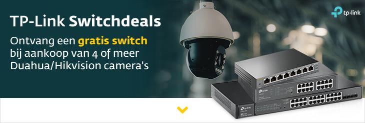 Gratis TP-link Switch bij Dahua en Hikvision