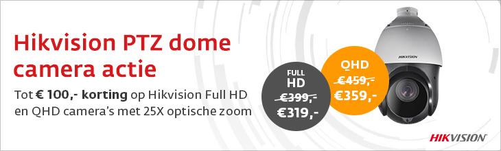 Hikvision PTZ dome met 25x zoom actie