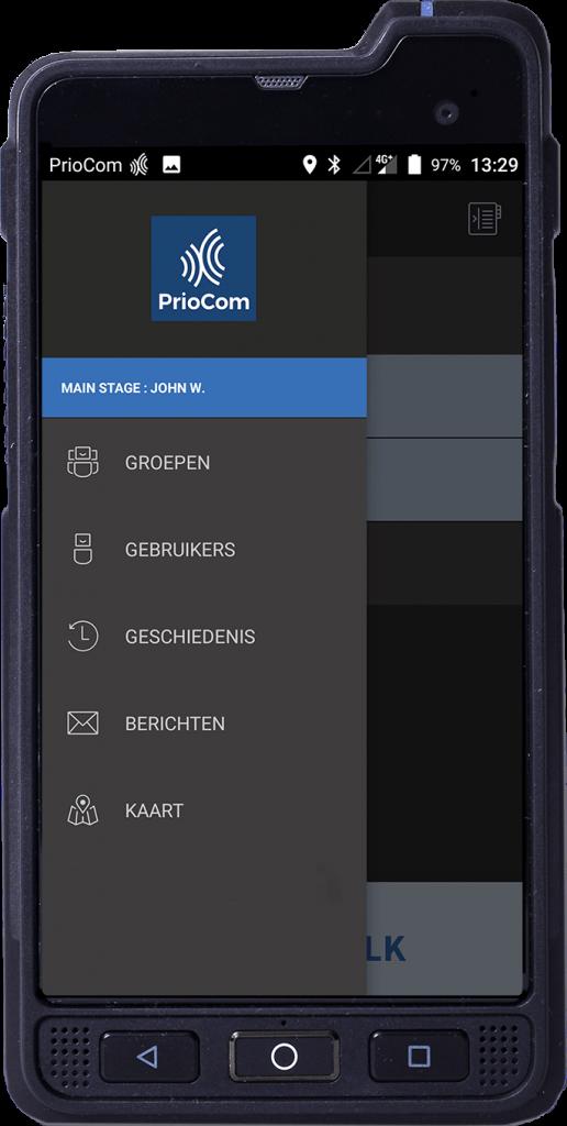 PrioCom 4G Push to Talk applicatie