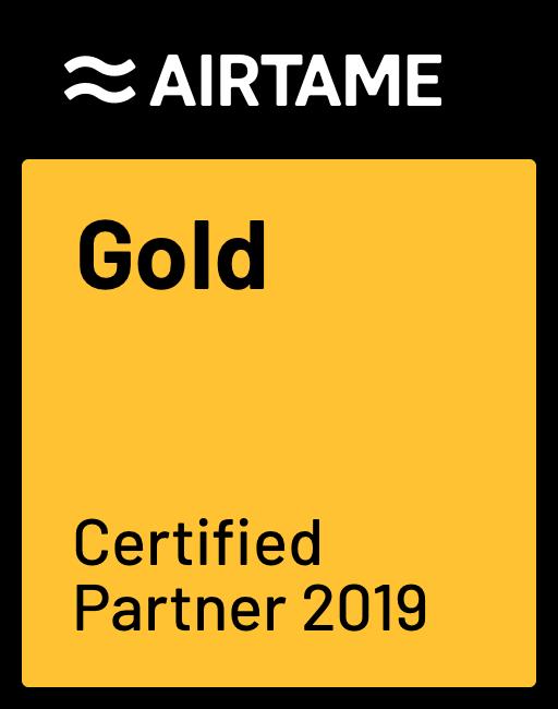 KommaGo is Certified Gold Partner van Airtame