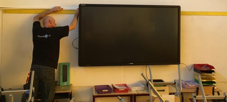 CTOUCH touchscreen installatie in klaslokaal