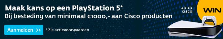 Bestel Cisco apparatuur, meld u aan en maak kans op een PlayStation 5