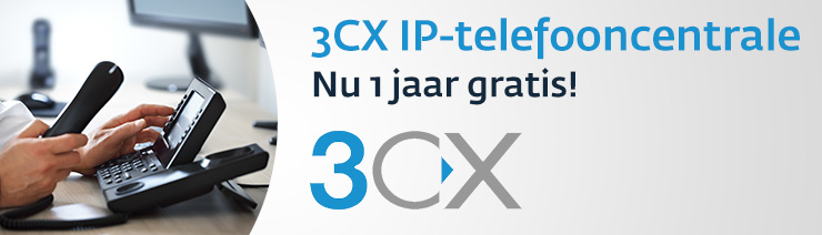 3CX VoIP PBX Software 1 jaar gratis