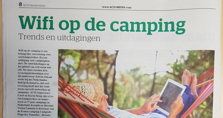 KommaGo vertelt ACSI Handelsblad over WiFi op de camping