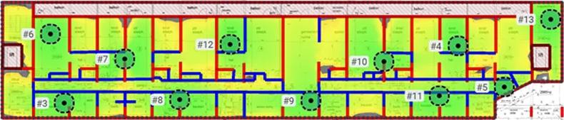 Ruckus predictive site survey heatmap