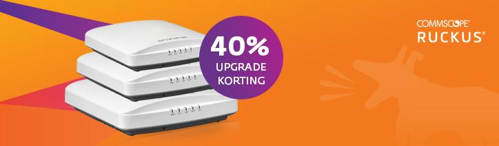 Banner upgrade uw Rukcus netwerk met 40% korting