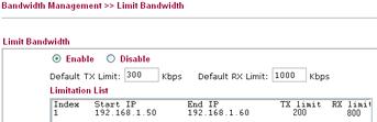 bwm-limitbandwith